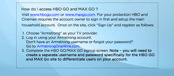 Armstrong Now has HBO GO and MAX GO